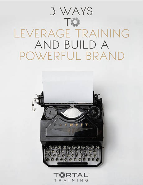 "ebook titled ""3 Ways to Leverage Training and Build a Powerful Brand"""